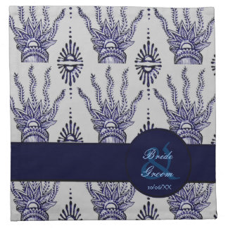 Mano de la alheña (azul) (boda) servilleta