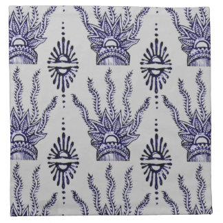 Mano de la alheña (azul) servilletas