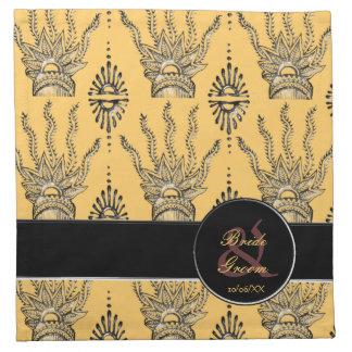 Mano de la alheña (boda) servilleta de papel