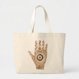 Mano de la alheña bolsas de mano
