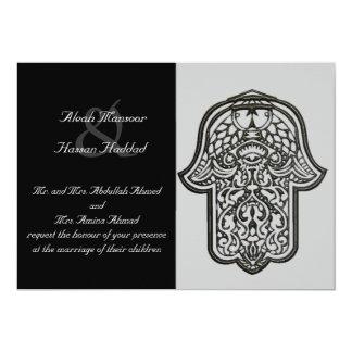 Mano de la alheña de Hamsa (boda) Invitación 12,7 X 17,8 Cm