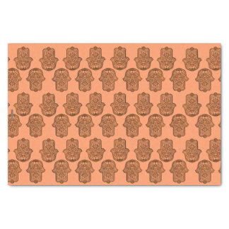 Mano de la alheña de Hamsa (naranja) Papel De Seda Pequeño