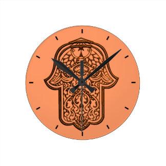 Mano de la alheña de Hamsa naranja Reloj