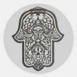 Mano de la alheña de Hamsa (original) Pegatinas Redondas