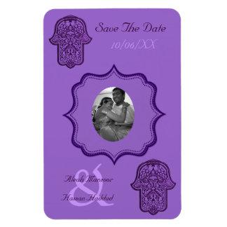 Mano de la alheña de Hamsa (púrpura) (ahorre la fe Iman De Vinilo
