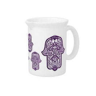 Mano de la alheña de Hamsa (púrpura) Jarrón