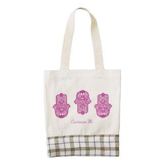 Mano de la alheña de Hamsa (rosa) Bolsa Tote Zazzle HEART