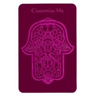 Mano de la alheña de Hamsa (rosa) Imanes Flexibles