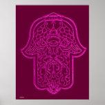 Mano de la alheña de Hamsa (rosa) Impresiones