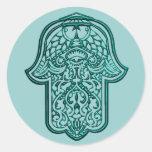 Mano de la alheña de Hamsa (trullo) Pegatina