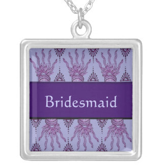 Mano de la alheña (púrpura) (boda) collares personalizados