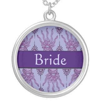 Mano de la alheña (púrpura) (boda) joyerias personalizadas