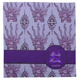 Mano de la alheña (púrpura) (boda) servilletas de papel