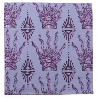 Mano de la alheña (púrpura) servilletas
