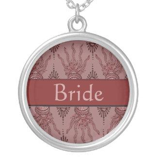 Mano de la alheña (roja) (boda) collar