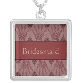 Mano de la alheña (roja) (boda) pendiente personalizado