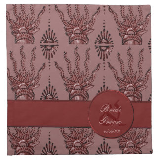 Mano de la alheña (roja) (boda) servilleta de papel