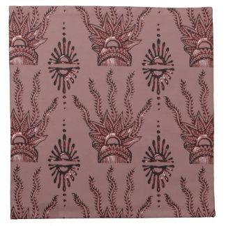 Mano de la alheña (roja) servilleta imprimida