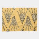 Mano de la alheña toalla de mano