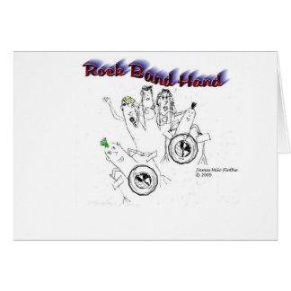 Mano de la banda de rock tarjeta de felicitación