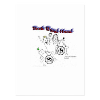 Mano de la banda de rock tarjetas postales
