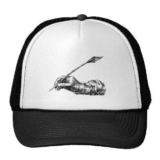 Mano de la escritura gorras de camionero