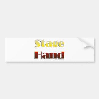 Mano de la etapa (texto solamente) etiqueta de parachoque