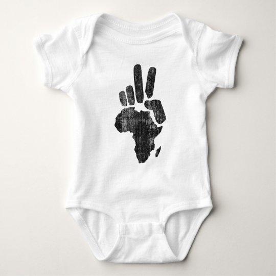 mano de la paz de Darfur África Body Para Bebé