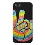 Mano de la paz del teñido anudado iPhone 5 carcasas