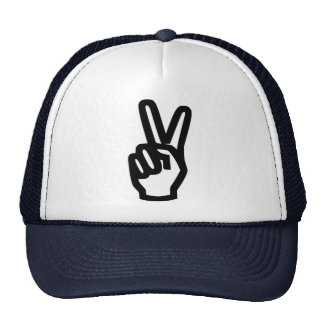 Mano de la paz gorra