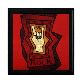 Mano de la roca caja de joyas