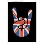 Mano de la roca del británico tarjeta de felicitación