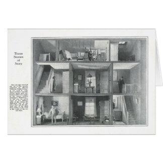 """""""Mano de la tarjeta 1916 de la escena de la etapa"""