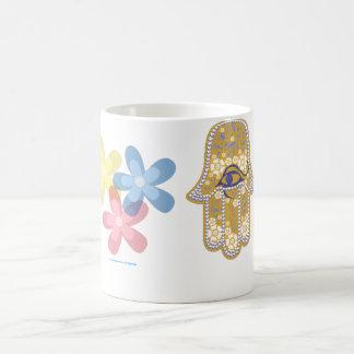 Mano de la taza del hamsa de Fátima