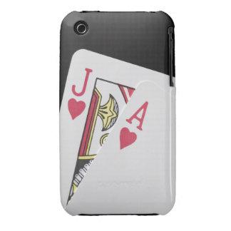 Mano de la veintiuna - Jack y as iPhone 3 Case-Mate Coberturas