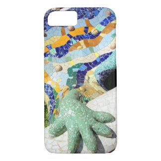 Mano de los mosaicos del lagarto de Gaudi Funda iPhone 7
