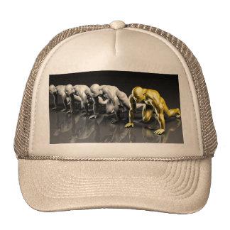 Mano de obra autorizada que se siente confiada gorras de camionero