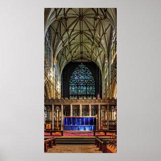 Mano de papel de la iglesia de monasterio de York Póster