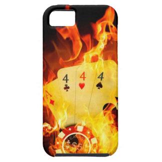 Mano de póker llameante iPhone 5 Case-Mate fundas