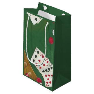 Mano de póker que gana seis a diez bolsa de regalo pequeña