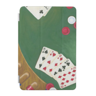 Mano de póker que gana seis a diez cover de iPad mini
