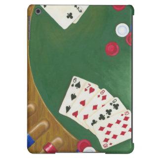 Mano de póker que gana seis a diez funda para iPad air