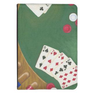 Mano de póker que gana seis a diez funda para kindle 4