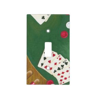 Mano de póker que gana seis a diez placas para interruptor