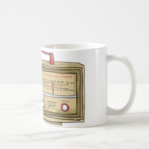 mano de radio dibujada tazas de café