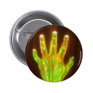 Mano del botón de la gloria pin redondo de 2 pulgadas