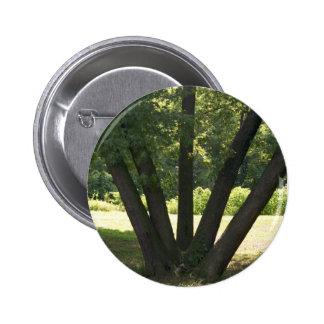 Mano del botón de la naturaleza pin redondo de 2 pulgadas