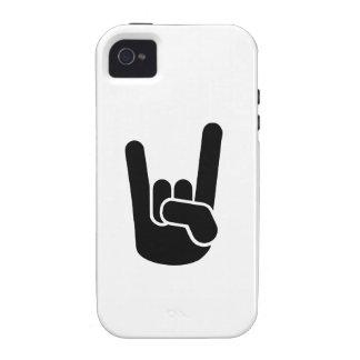 Mano del metal de la roca Case-Mate iPhone 4 funda