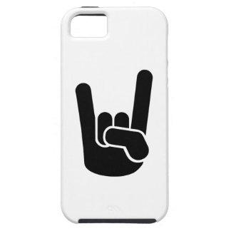 Mano del metal de la roca iPhone 5 Case-Mate protectores