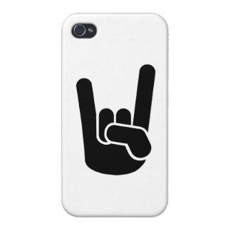 Mano del metal de la roca iPhone 4 cárcasas